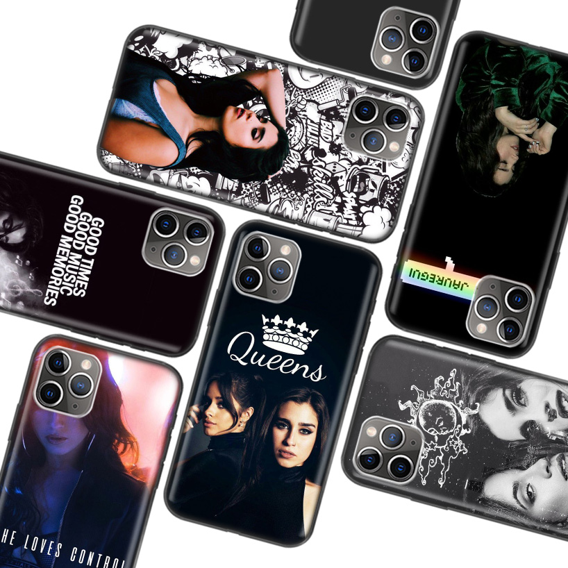 <font><b>Lauren</b></font> Jauregui Black Case for Apple iPhone 11 Pro XR 7 8 6 6S Plus X XS MAX 5 5S SE Soft TPU Silicone Phone Cover Case image