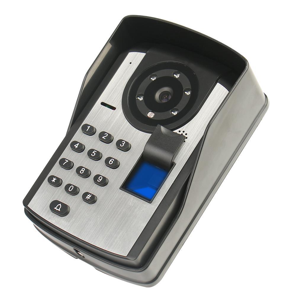 Купить с кэшбэком Fingerprint Password APP Remote Unlock Video Intercom 7 Inch Monitor Wifi Wireless Video Door Phone Doorbell Visual Intercom KIT