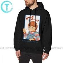 Chucky Hoodie Kind S Play Goeden Chucky Hoodies Oversized Paars Capuchon Katoen Mode Streetwear Herfst Hoodies