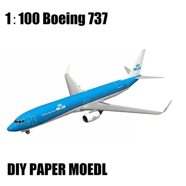DIY Airplane Paper Model Papercraft Toy 1:100 Boeing Paper Model Aircraft Aircraft Handmade Origami Model 737 Toy Paper 3D P2J7 1
