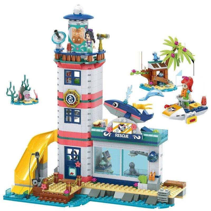 Girl Friends Lighthouse Rescue Center Building Block Compatible Legoinglys Friends 41380 Brick Toys For Girls Toys For Children