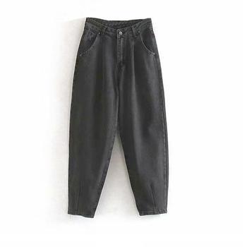 catonATOZ 2248 Khaki Female Cargo Pants High Waist Harem Loose Jeans Plus Size Trousers Woman Casual Streetwear Mom Jeans 13