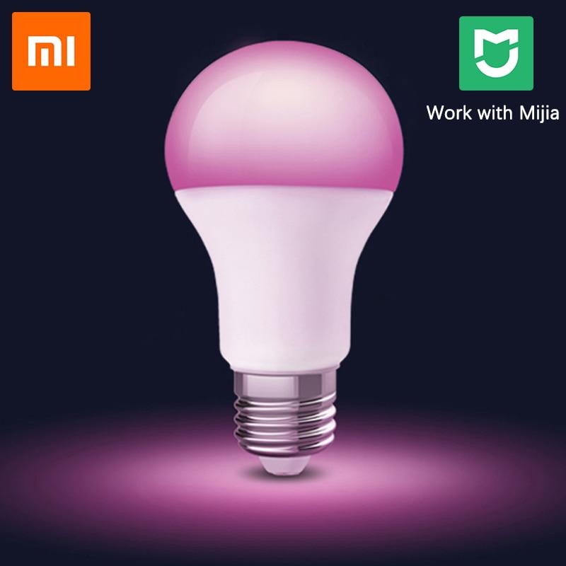 Xiaomi MIjia Philips Smart LED Color Bulb Wifi RGB E27 1600 Million Colors Smart Light App Wireless Control Smart Home Lamp