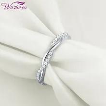 Wedding-Ring Jewelry Wave-Design 925-Sterling-Silver Women Zircon Engagement-Band Genuine