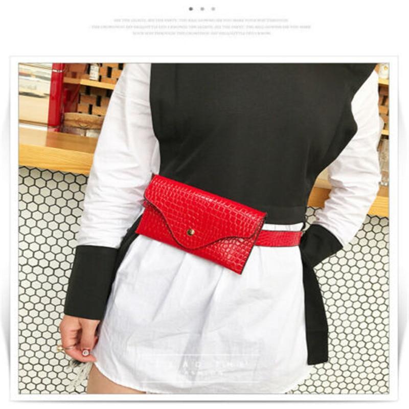 Crocodile Pattern Fanny Pack Lady 2020 New Fashion Women PU Leather Waist Belt Bag Mini Waist Packs Lady Leather Small Belt Bags