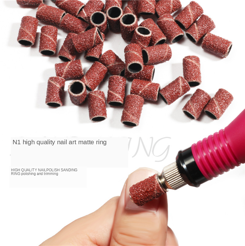 50/100pcs Nail Art Sanding Paper For Manicure Removing Gel Nail Electric Drill Refill Bits Grinding Sand Ring 80# 120# 180#