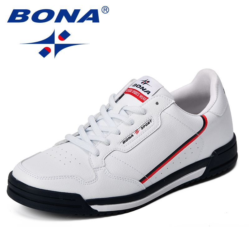BONA 2020 New Fashion Skateboarding Shoes Breathable Men's Shoes Comfortable Sneakers Low Men Flats Shoes For Walking Jogging