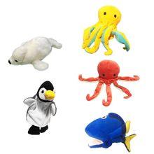 Toy Hand-Puppet Interactive-Game-Performance-Prop Octopus-Seal Plush-Glove Animal Marine