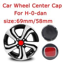 Логотип H, Стайлинг автомобиля, красная крышка ступицы колеса, эмблема, значок, Обложка для Honda Civic Accord Fit Odyssey City CRV HRV, автомобильные аксессуар...