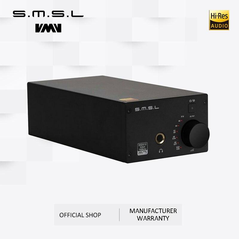 Распродажа SMSL M7 2xAK4452 32Bit/768KHz DSD512 USB DAC с усилителем для наушников USB коаксиальный Оптический вход RCA 6,35 Jack выход
