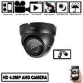 NINIVISION Ultra HD AHD 4MP камера широкоугольная полностью Металлическая купольная Антивандальная CCTV камера наблюдения безопасности 24 ИК светодиодо...
