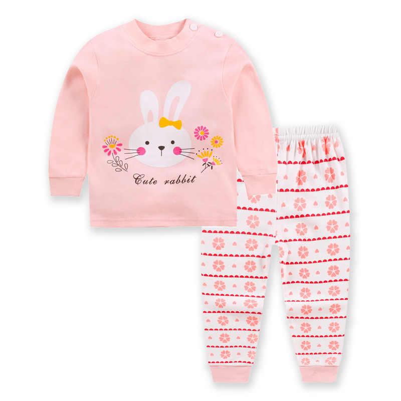 0-2year baby kleding set Winter katoen Pasgeboren Baby jongens meisjes Kleding 2 STUKS Mickey baby pyjama Unisex kinderkleding Sets
