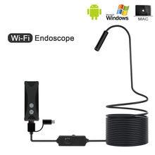 8mm 1/2/3/5M WIFI endoskop Mini kamera yumuşak kablo USB endoskop Borescope android/Iphone ve PC