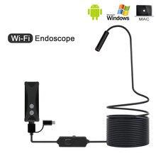 안드로이드/아이폰 및 PC 용 8mm 1/2/3/5M WIFI 내시경 미니 카메라 소프트 케이블 USB 내시경 내시경