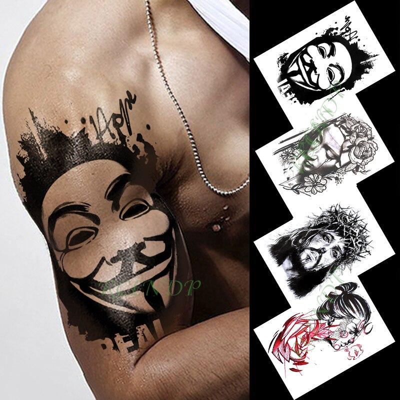 Waterproof Temporary Tattoo Sticker Clown Male Movie Character Elegant Girl Tatto Flash Tatoo Fake Tattoos For Men Women