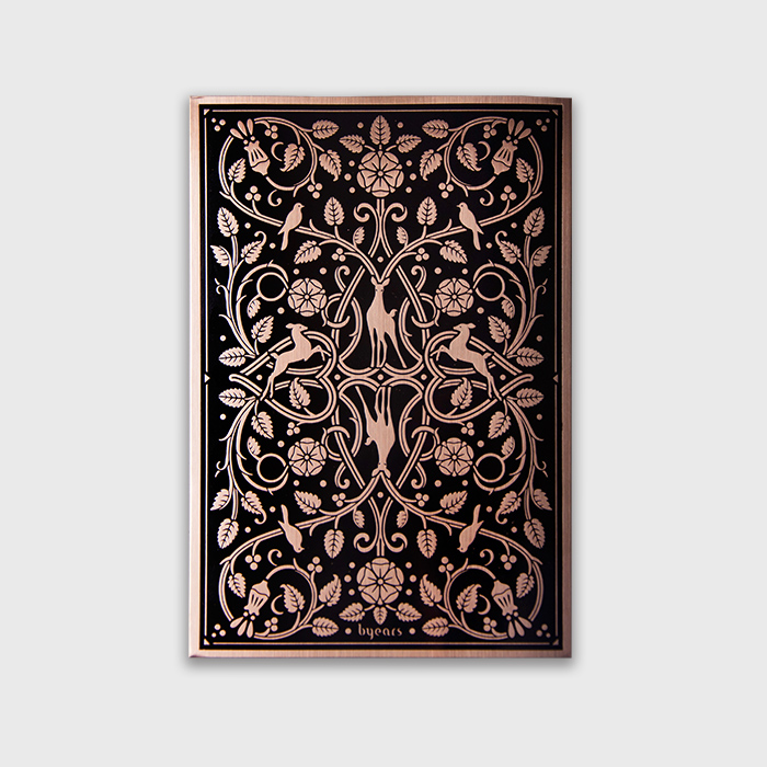 Original BYEARS Bukhara Metal Tide Notebook B5 / Creative Drawing Blank Notebook Gift Limited Production 1PCS