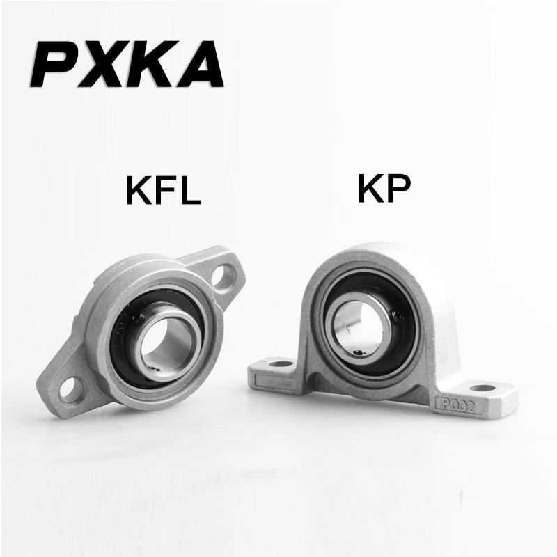 Free Shipping 2PCS Small Bearing With Zinc Alloy Seat Vertical Diamond Seat KP / KFL08 000 001 002 003 004 005 006 007