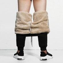 Мужские супер Зимние теплые брюки-карго, утолщенные спортивные штаны из флиса для улицы, брюки на молнии, ветровка, мужские свободные штаны