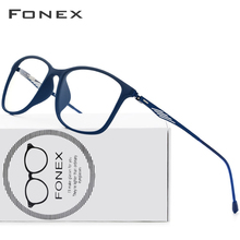 FONEX TR90 Alloy Optical Glasses Frame Men Full Rim Square Myopia Eye Glass for Men Prescription Eyeglasses Screwless Eyewear