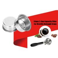커피 필터 컵 51mm 비 가압 필터 바구니 Breville Delonghi 필터 Krups 커피 제품 주방 악세사리|커피 필터|홈 & 가든 -