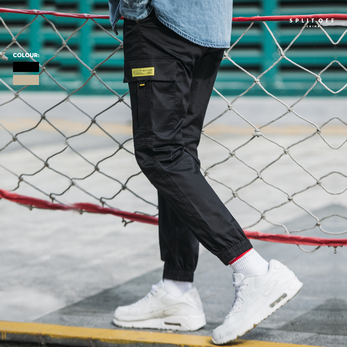 2019 Autumn Clothing New Style Bib Overall Men's Korean-style Trend Beam Leg Casual Trousers Loose-Fit Versatile Pants Men's