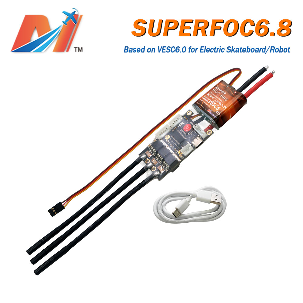 Maytech Upgraded VESC50A SUPERFOC6.8 Based On VESC6.0 Hardware Super Speed Controller For Esk8 Longboard Robots