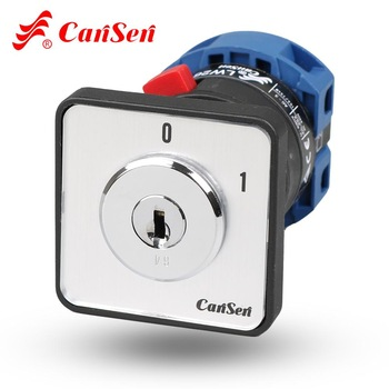 цена на CANSEN LW26-25 CA20 690V Ith 25A Rotary Cam Switch with Key ON/OFF 2 position 2P/3P/4P single phase three phase control switch