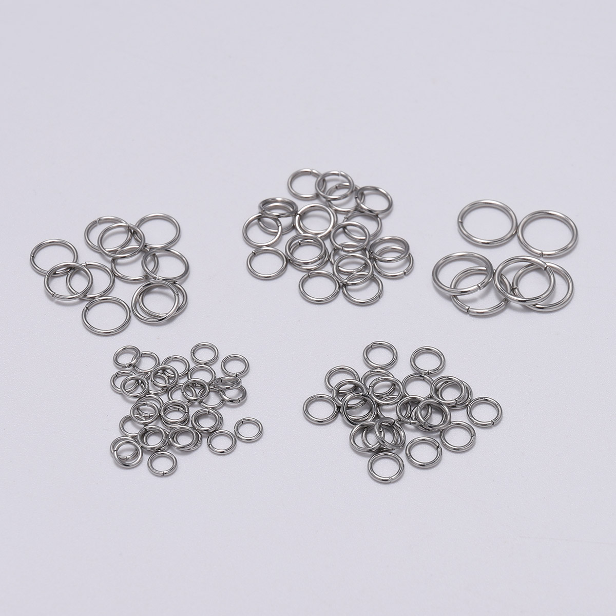 200pcs 3-15mm Diameter Stainless Steel Open Single Loops Jump Rings Split Ring For Jewelry Making DIY Connector Made Accessories