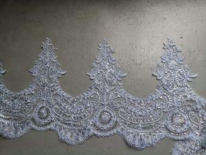 Image 5 - Beyaz/fildişi düğün duvağı 2M/ 2.5M / 3m / 4M uzun tarak dantel Mantilla Cathedral gelin Veils düğün aksesuarları Veu De Noiva
