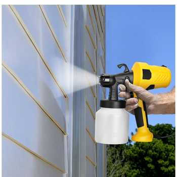 2.5mm Nozzle 800ML Handheld Spray Gun Paint Sprayers 220V High Power Home Flow Control Electric Paint Spray Gun Easy Spraying