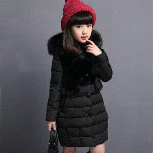 Image 5 - OLEKID 2020 가을 겨울 파카 소녀를위한 따뜻한 롱 모피 걸스 겨울 자켓 4 13 년 십대 겉옷 어린이 Snowsuit