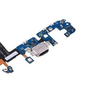 Image 4 - 10 adet/grup Samsung Galaxy S9 G960F g960u S9 + artı G965F g965u USB şarj şarj portu dock konektör esnek kablo değiştirme