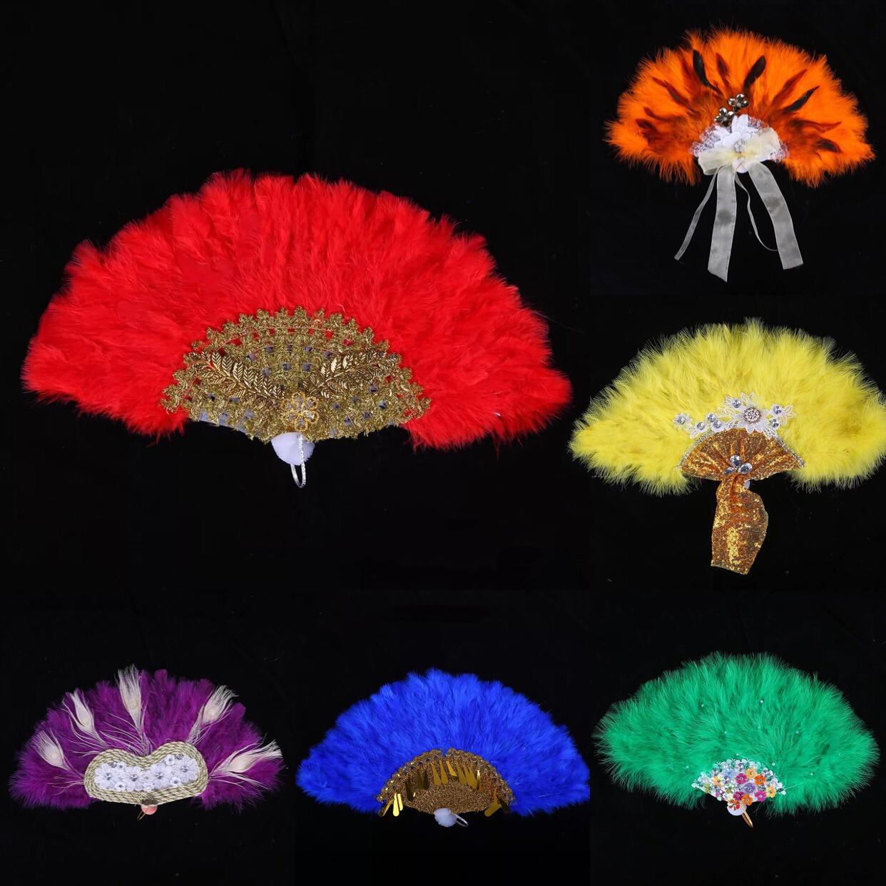 Wedding Custom Hand Fan With Pearl Lace Feather Hand Fan Handmade Hand Held Photo Props Abanicos Para Boda Wedding Favors Decor