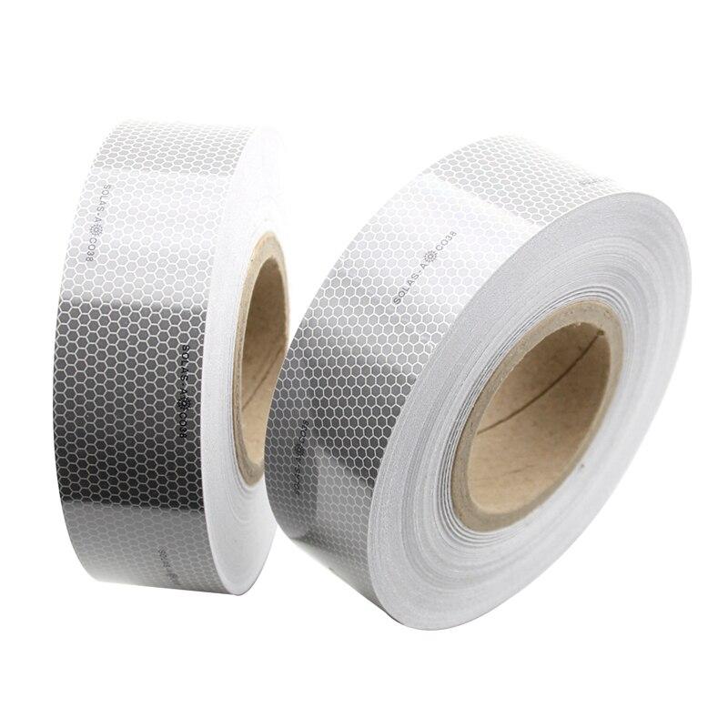 Cinta reflectante marina de 5cm de ancho para productos que ahorran vida, pegatinas blancas de seguridad para coser en ropa