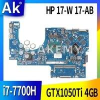 Placa-mãe do portátil dag37dmbad0 g37d para For HP para pavilhão 17-ab 17-w série placa-mãe 915550-601 com 1050ti 4 gb i7-7700H