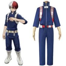 цены на Anime My Hero Academia Boku no Hero Academia Todoroki Shoto Cosplay Costume Top Pants Belt Halloween  в интернет-магазинах