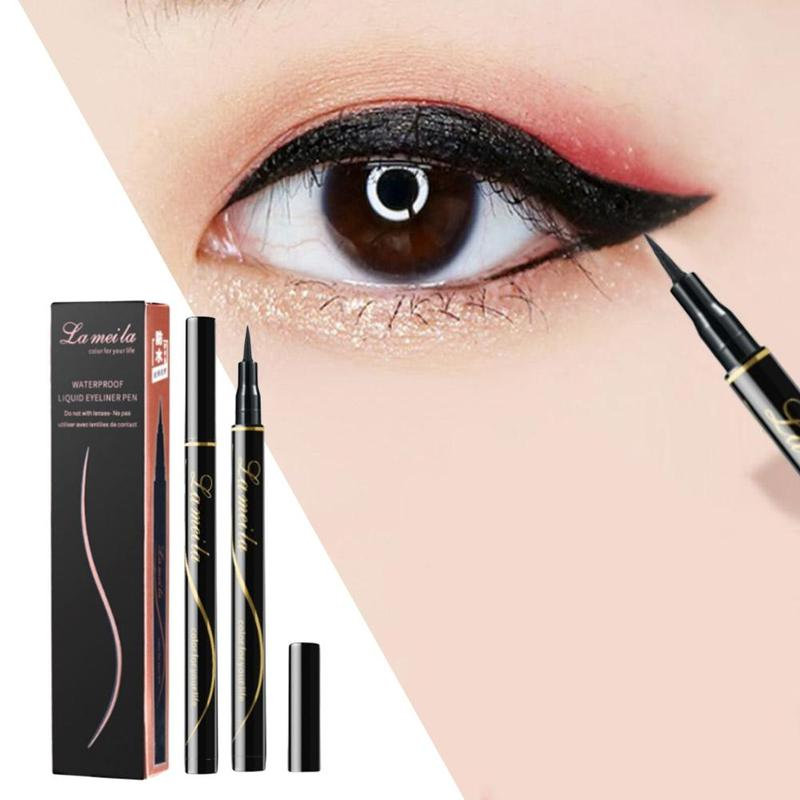 Long-lasting Liquid Eyeliner Pencil Waterproof Fast Dry Black Eye liner Beauty Big Eyes Makeup Tool Smooth Cat Eye Cosmetic Tool image