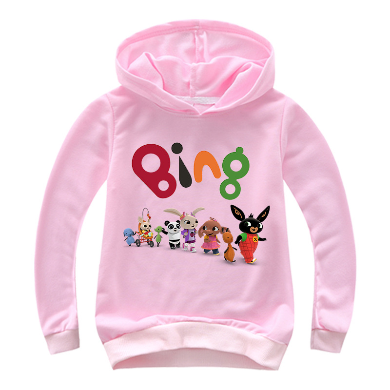 2-16Y Cartoon Bing Rabbit T Shirt Kids Hoodies Boys Animal Friends Sweat Shirts Enfants Girls Sweatshirts Hoody Cute Casual Tops