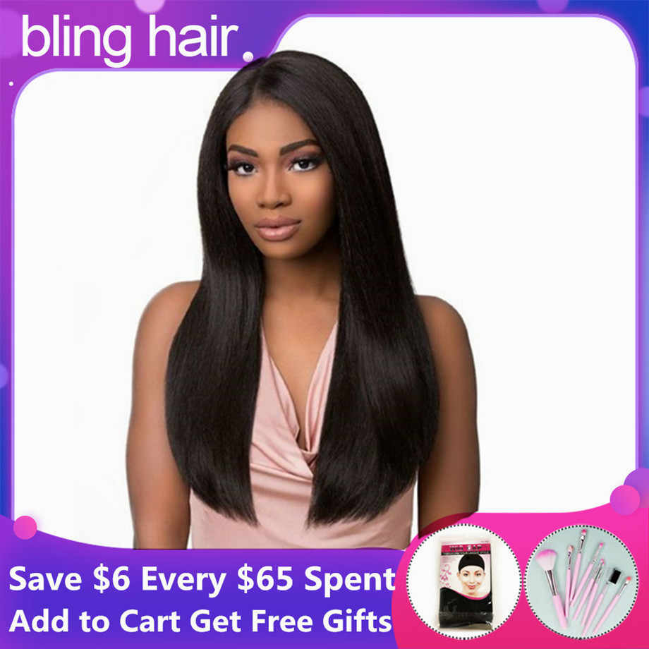 Brazilian Straight Lace Front Human Hair Wigs 360 Lace Frontal Wig For Women Natural Long Hair 150% Density 13x4 Pre Plucked Wig