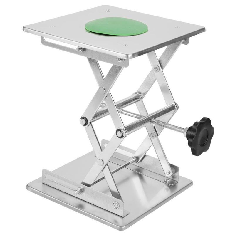 Laboratory Lifting Platform Mini Adjustable Table Rust-proof Woodworking Platform Stainless Steel Carving Lifting Platform Stand
