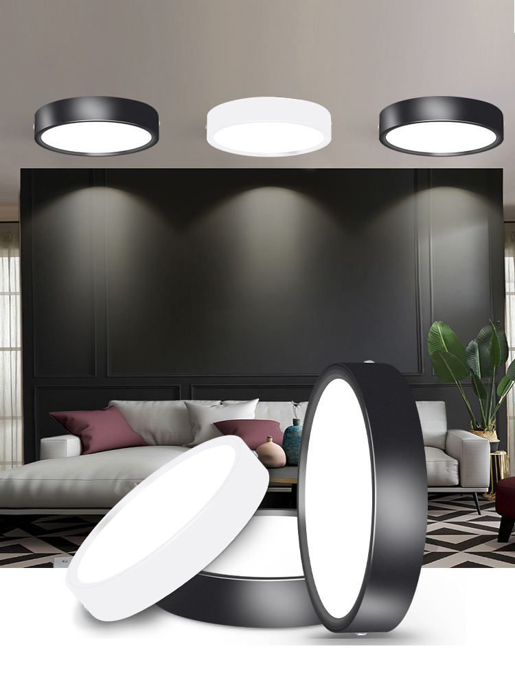 Lighting-Fixture Downlights-Down-Lights Surface-Mounted Round Home 110V 220V 10W 5W Led