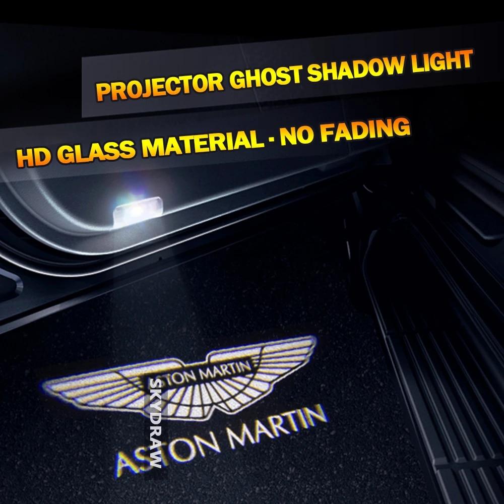 1 Pair For Aston Martin Db9 Db11 Dbs V8 Vantage V12 Vantage Car Hd No Fading Led Door Welcome Light Projector Ghost Shadow Light Signal Lamp Aliexpress