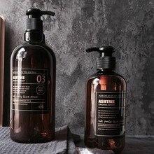 Новейший жидкий гель для душа шампунь Пресс бутылка мыло бутылка для многоразового использования простой скандинавском стиле