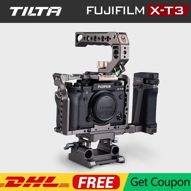 TILTA DSLR Camera Cage for Fujifilm XT3 X T3 and X T2 Camera Handle Grip fujifilm xt3 Cage Accessories VS SmallRig