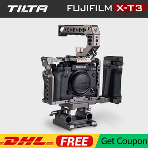 Image 1 - TILTA ramka do kamery DSLR do Fujifilm XT3 X T3 i X T2 uchwyt rękojeści aparatu fujifilm xt3 akcesoria do klatek VS SmallRig