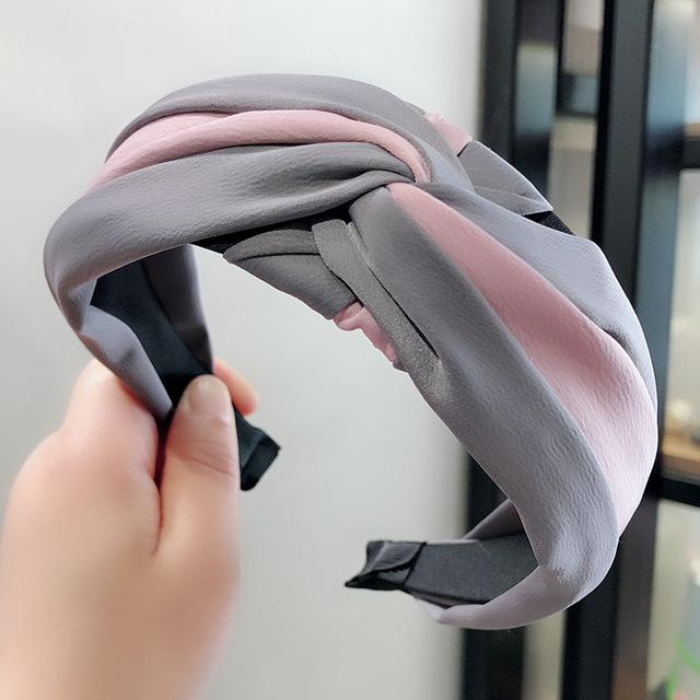 1PC Top Knot Cross Hair Bow Headband Elastic Hairband For Women Hair Accessories Flower Headband