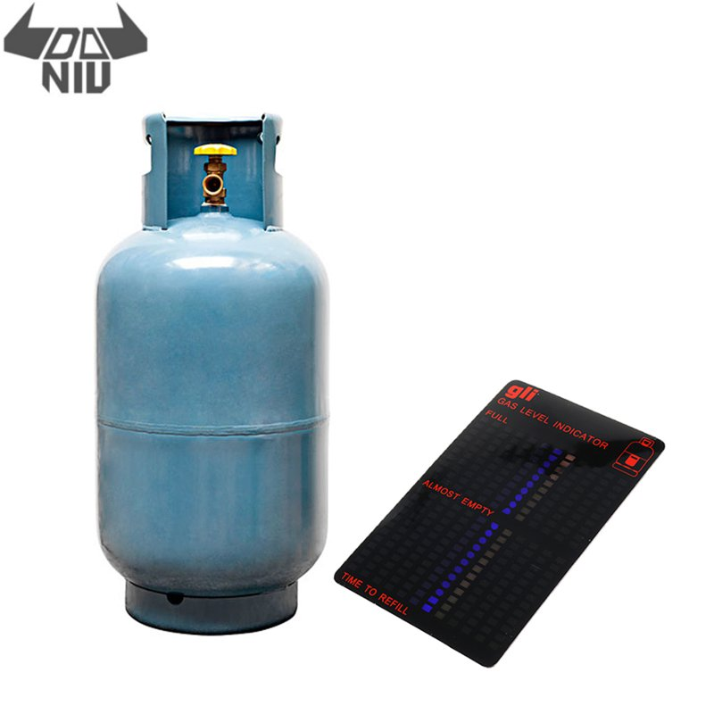 DANIU Magnetic Gas Cylinder Tool Gas Tank Level Indicator Propane Butane LPG Fuel Gauge Caravan Bottle Temperature Measuring