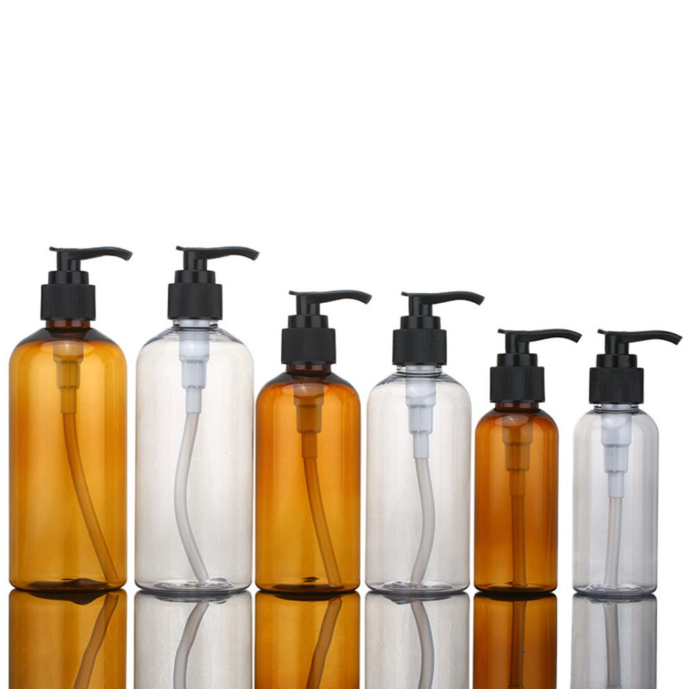 100/200/300ml Lotion Shower Gel Empty Refill Pressed Pump Bottle For Soap Shower Gel Soap Clear Foam Bottle  Holder Dispenser