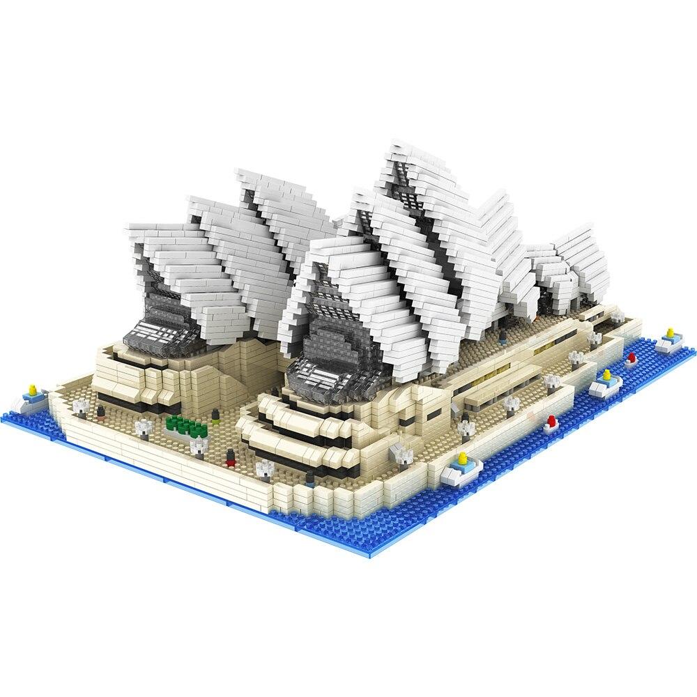 diy arquitetura blocos modelo sydney opera house 01