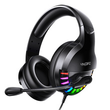Earphones Gaming Headset Wired-Game Over-Ear Deep-Bass Stereo PS4 with for PC Xbox Casque